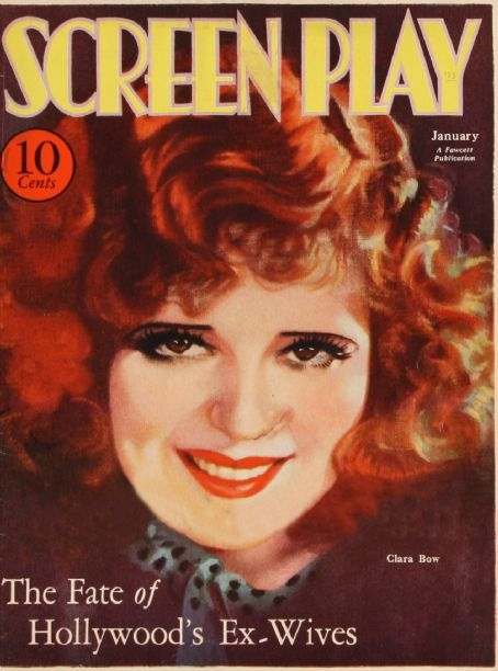 Clara Bow - Screen Play Magazine [United States] (January 1933)