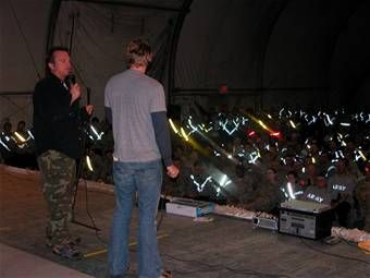 Dax Shepard  & Tom Arnold entertaining the troops in Afghanistan 3/31/07