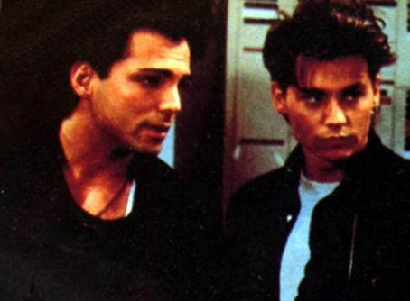 21 Jump Street Richard Grieco and Johnny Depp in  (1987)