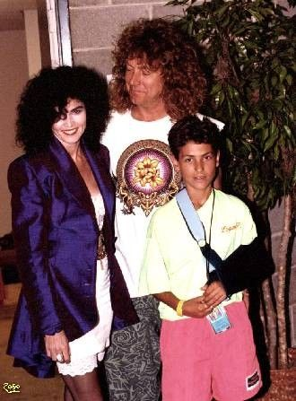 Robert Plant  with Alannah Myles and Robert's son Logan