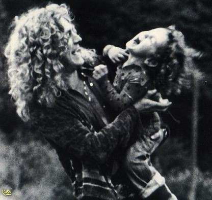 Robert Plant  and deceased son Karac Pendragon Plant 1974