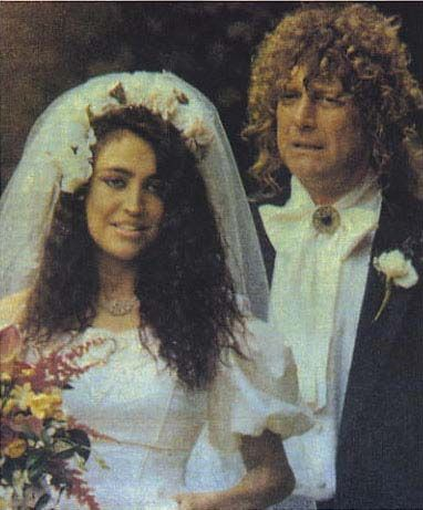 Robert Plant  with daughter Carmen at wedding