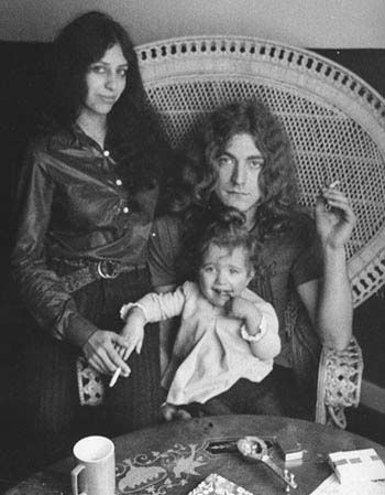 Robert Plant  with Maureen and daughter Carmen 1969