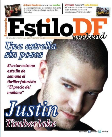 Justin Timberlake - Estilo Df Magazine Cover [Mexico] (4 November 2011)