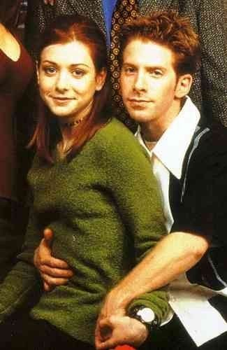 Seth Green as Oz and Alyson Hannigan as Willow in Buffy - The Vampire Slayer