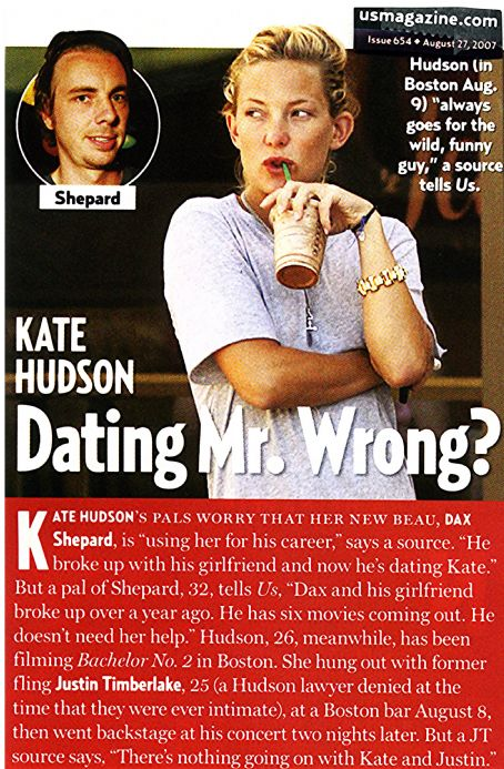 Dax Shepard /Kate Hudson article, Aug. 27, '07
