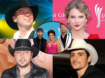 ACM Nominations: Music to Kenny Chesney, Brad Paisley, Taylor Swift and Lady Antebellum's Ears