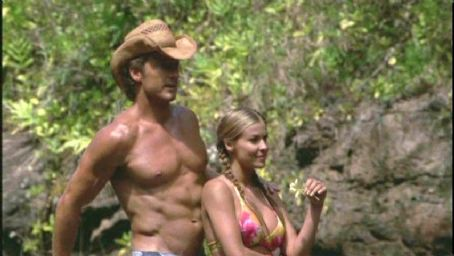 Lani McKenzie Carmen Electra and John Allen Nelson in Twentieth Century Fox's Baywatch: Hawaiian Wedding - 2003