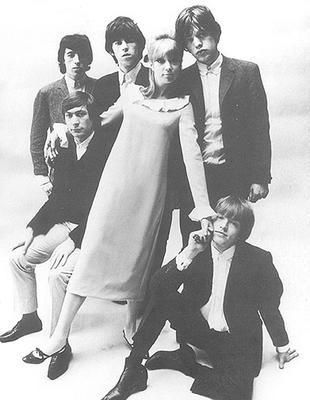 Pattie Boyd  with the Stones in 1964, photo by John French