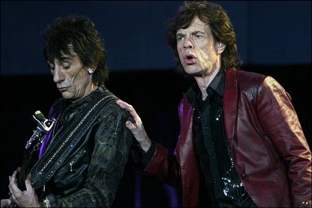 Ron Wood Mick Jagger