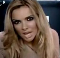 Nadine Coyle  in the video for