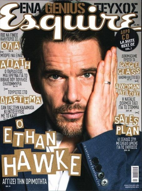 Ethan Hawke - Esquire Magazine Cover [Greece] (February 2014)
