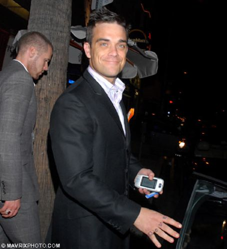 Robbie Williams Los Angeles night-out