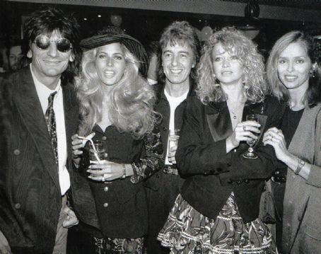 Bill Wyman and Mandy Smith Bill and Mandy with Ron and Jo and Barbara Bach
