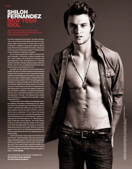 Shiloh Fernandez…Where Have You Been?