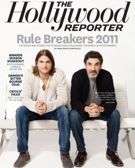 Chuck Lorre, Ashton Kutcher - The Hollywood Reporter Magazine Cover [United States] (6 January 2012)