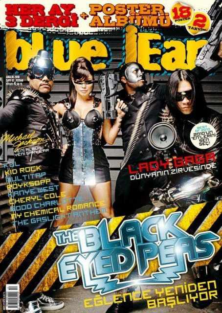 Will i Am, Apl.de.Ap, Taboo - blue jean Magazine Cover [Turkey] (December 2010)