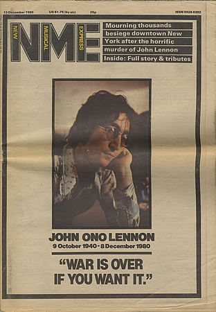 John Lennon - NME Magazine [United Kingdom] (December 1980)