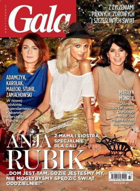Anja Rubik - Gala Magazine Cover [Poland] (12 December 2011)