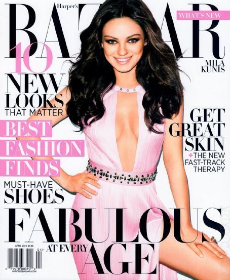 Mila Kunis - Harper's Bazaar Magazine Cover [United States] (April 2012)