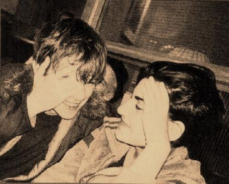 Damon Albarn  and Justine Frischmann