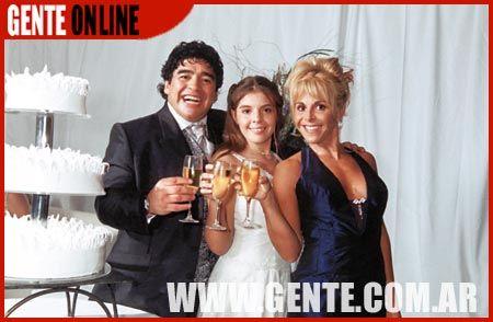 Diego Armando Maradona  and Claudia Maradona