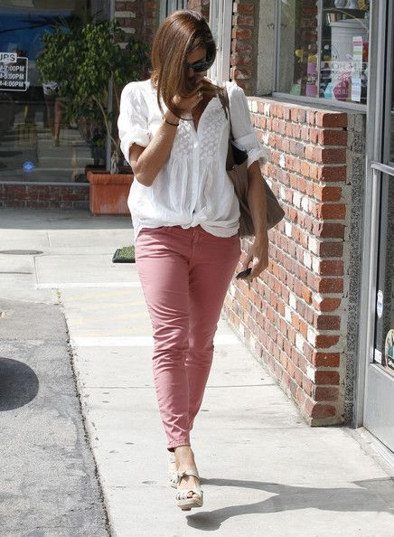 Eva Mendes hiding her face as she leaves the Salon Desire in Los Feliz, California on March 30, 2012