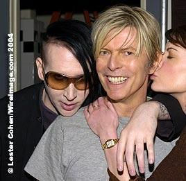 David Bowie  and Brian Warner aka Marilyn Manson