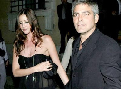 Lisa Snowdon George Clooney and Lisa Snowden