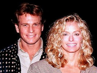 Ryan O'Neal Farrah Fawcett and Ryan O