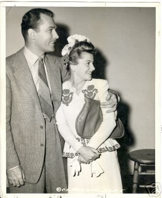 Joan Fontaine  and husband Brian Aherne