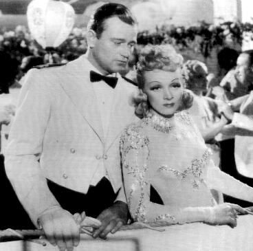 Marlene Dietrich  and John Wayne