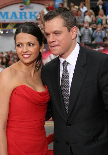 Matt Damon Luciana Barroso and