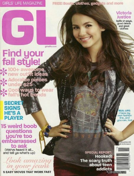 Victoria Justice - Girls' Life Magazine Cover [United States] (October 2011)