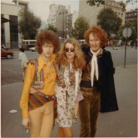 Eric Clapton Charlotte Martin and  with Ginger Baker, Paris 1967.