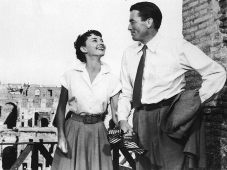 Gregory Peck  and Audrey Hepburn in Roman Holiday (1953)