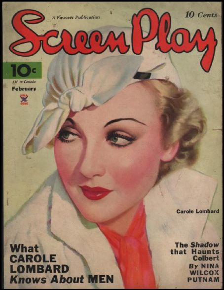 Carole Lombard - Screen Play Magazine [United States] (February 1934)