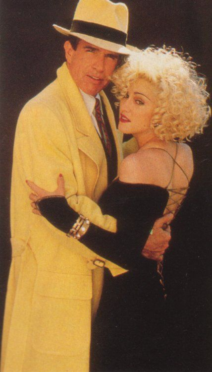 Warren Beatty Madonna and  in Dick Tracy (1990)