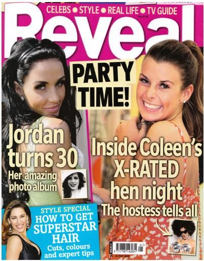 Coleen Rooney, Katie Price - Reveal Magazine Cover [United Kingdom] (24 May 2008)