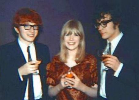 Peter Asher John Dunbar and Marianne Faithfull wedding 1965