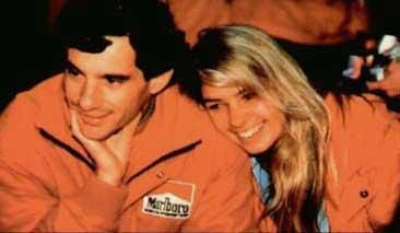 Ayrton Senna  and Adriane Galisteu