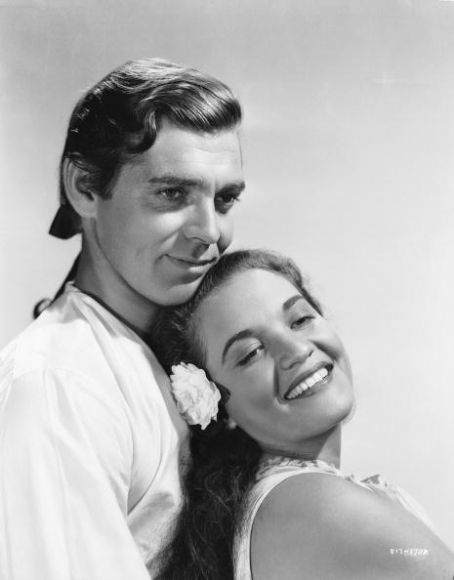 Movita Brando and Clark Gable