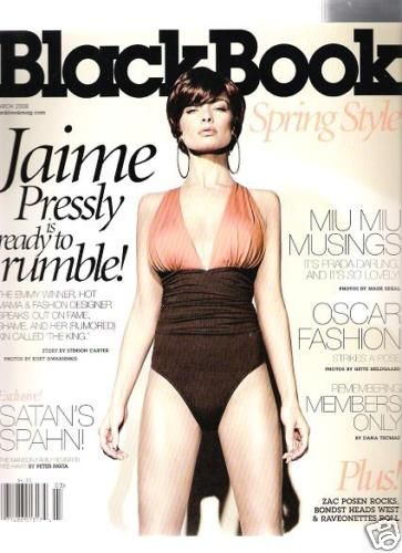 Jaime Pressly - Black Book Magazine Cover [United States] (March 2008)