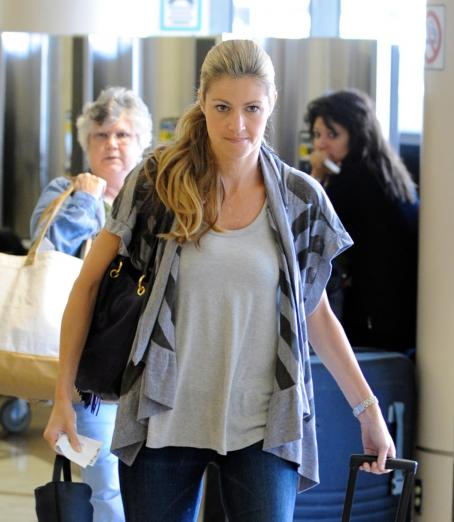 Erin Andrews - Departing LAX Airport - August 30, 2010