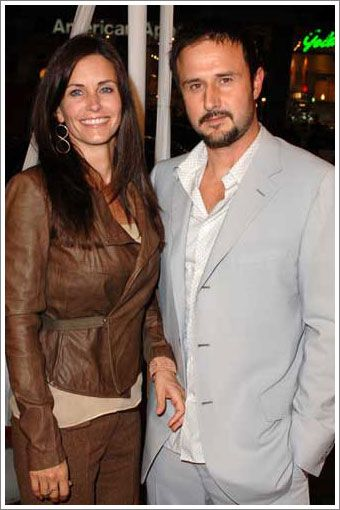 David Arquette Courteney Cox and