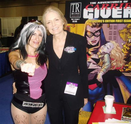 Gloria Steinem  & Cookie Cutter Girl, POP SUPERHERO at the NEW YORK COMICON
