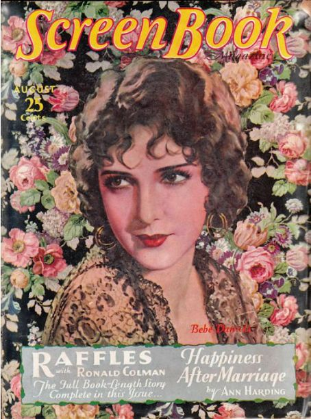 Bebe Daniels - Screen Book Magazine [United States] (August 1930)