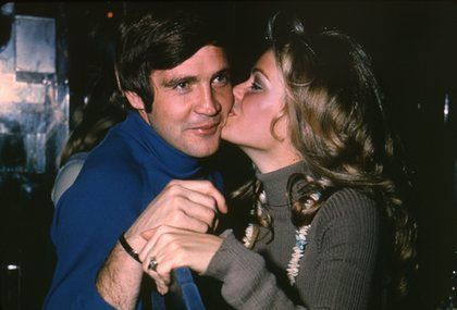 Farrah Fawcett  and Lee Majors
