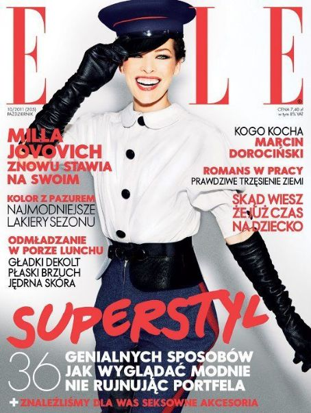 Milla Jovovich - Elle Magazine Cover [Poland] (October 2011)