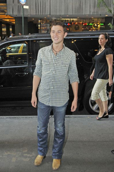 Scotty McCreery  was spotted arriving at MTV studios today, May 31, in New York City!